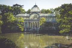 Crystal Palace (Palacio de cristal) in Retiro Park,Madrid, Spain Royalty Free Stock Photography