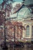 Crystal Palace (Palacio De cristal) in Retiro-Park, Madrid, Spanien Lizenzfreie Stockfotografie