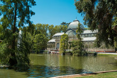 Crystal Palace, Park of the Pleasant Retreat, Madrid Stock Photos