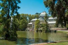 Crystal Palace, Park van de Prettige Terugtocht, Madrid Stock Foto's