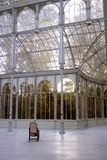 Crystal palace in Parque del Retiro of Madrid stock images
