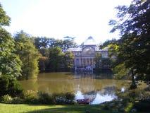 Crystal Palace, parque do ` s Buen Retiro do Madri imagem de stock
