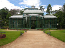 Crystal Palace - Petropolis - Rio de Janeiro. The metal and glass components of the Palace were manufactured in 1879 in Saint-Saveur-les-Arras, France. The stock photography
