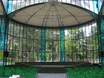 Crystal Palace - Petropolis - Rio de Janeiro. The metal and glass components of the Palace were manufactured in 1879 in Saint-Saveur-les-Arras, France. The Royalty Free Stock Image