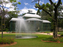 Crystal Palace - Petropolis - Rio de Janeiro. The metal and glass components of the Palace were manufactured in 1879 in Saint-Saveur-les-Arras, France. The Stock Image