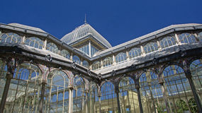 Crystal palace in Retiro Parc, Madrid, detail Stock Images