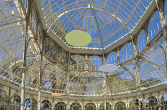 Crystal Palace. In the Retiro Park in Madrid Royalty Free Stock Photo