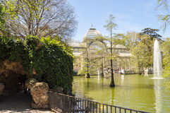 Crystal Palace. In the Retiro Park in Madrid Stock Photos