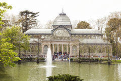 Crystal palace in the Retiro Park, Madrid Stock Images