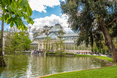Crystal Palace in Retiro Park of Madrid Royalty Free Stock Image