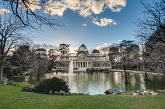 Crystal Palace on Retiro Park in Madrid, Spain. Stock Photo