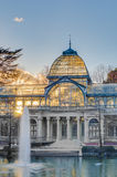 Crystal Palace on Retiro Park in Madrid, Spain. Royalty Free Stock Image