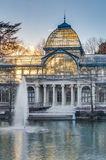 Crystal Palace on Retiro Park in Madrid, Spain. Stock Photos