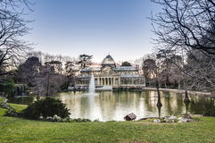 Crystal Palace on Retiro Park in Madrid, Spain. Stock Photography