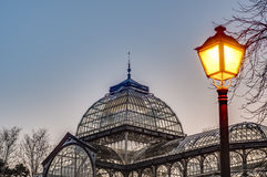 Crystal Palace on Retiro Park in Madrid, Spain. Stock Image