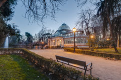 Crystal Palace on Retiro Park in Madrid, Spain. Royalty Free Stock Photos