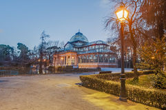Crystal Palace on Retiro Park in Madrid, Spain. Stock Photos