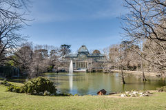 Crystal Palace on Retiro Park in Madrid, Spain. Royalty Free Stock Image