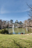Crystal Palace on Retiro Park in Madrid, Spain. Stock Images