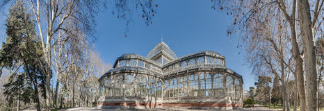 Crystal Palace on Retiro Park in Madrid, Spain. Royalty Free Stock Photos