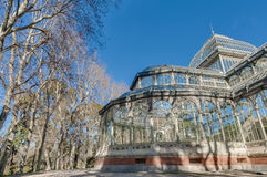 Crystal Palace on Retiro Park in Madrid, Spain. Royalty Free Stock Photography