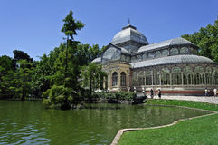 Crystal Palace in Retiro park Royalty Free Stock Photo