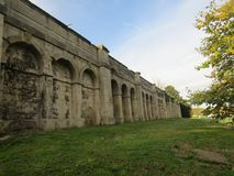 Crystal Palace ruins, taken from a side-view stock image
