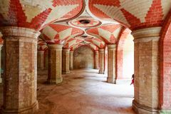 Crystal Palace subway, a disused Victorian pedestrian tunnel in. South London Royalty Free Stock Photography