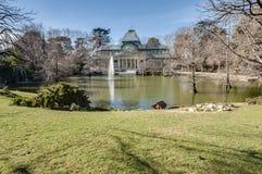 Crystal Palace sul parco di Retiro a Madrid, Spagna Fotografia Stock Libera da Diritti