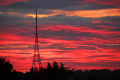 Crystal Palace Transmitting Station at dawn Royalty Free Stock Images