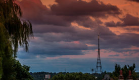 Crystal Palace Transmitting Station at dusk Stock Photography