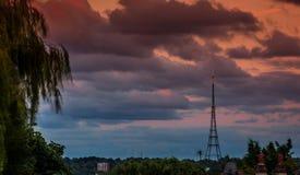 Crystal Palace Transmitting Station at dusk. Bromley, London, UK Stock Photography