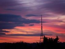 Crystal Palace Transmitting Station at dusk. Bromley, London, UK Stock Photo