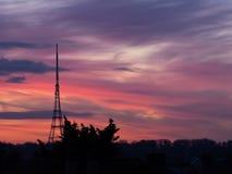 Crystal Palace Transmitting Station at dusk. Bromley, London, UK Stock Photos