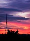 Crystal Palace Transmitting Station at dusk. Bromley, London, UK Royalty Free Stock Images