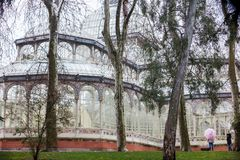 Crystal Palace van het Retiro-Park in Madrid Stock Fotografie