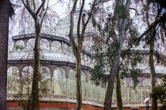 Crystal Palace van het Retiro-Park in Madrid Stock Foto's