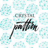 Crystal pattern Stock Photography