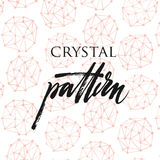 Crystal pattern Royalty Free Stock Image