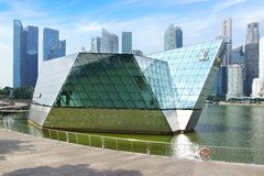 «Crystal Pavilion» Louis Vuitton, Singapour. photos libres de droits