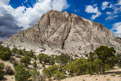 Crystal Peak. View From Northeast Of The White Tuff Crystal Peak In The Wah-Wah Mountains Of The Great Basin Desert, Utah Royalty Free Stock Images