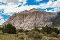 Crystal Peak. View From Northwest Of The White Tuff Crystal Peak In The Wah-Wah Mountains Of The Great Basin Desert, Utah Royalty Free Stock Image