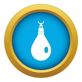 Crystal pendant icon blue vector isolated. On white background for any design stock illustration