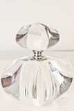Crystal Perfume Bottle with Stopper Stock Image