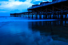 Crystal Pier. This image is of Crystal Pier in Mission Beach, California.  Mission Beach is part of San Diego Stock Images