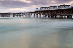 Crystal Pier in Pacific Beach, CA. Near San Diego, CA royalty free stock images