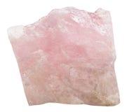Crystal of pink Beryl Morganite gem stone Royalty Free Stock Image