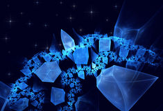 Crystal Planet, srar. Abstract fractal background a computer-generated 2D illustration, crystal Planet Royalty Free Stock Photo