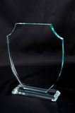 Crystal Plaque award. In the black background Stock Images