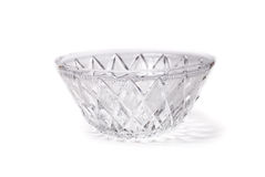 Crystal plate isolated on white Royalty Free Stock Photography